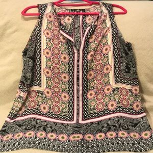 Rose and Olive Tank L
